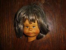 alte Krahmer Wandmaske Puppe Kuck in die Welt Wandpuppe Holz 10,5x8cm K10
