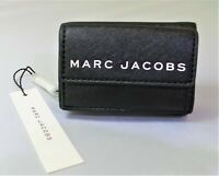 New MARC JACOBS small black leather flip top wallet style/M0015057 SUGG RETAIL/D