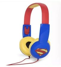 SUPERMAN Headphones Child Safe Volume Limiting ADJUSTABLE Over Ear DC COMICS NEW