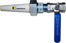 Large Ceramic Sandblaster Nozzle Assembly: C1 Nozzle Tip, Ball Valve & Holder
