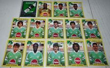 AS SAINT-ETIENNE ASSE VERTS CHAUDRON COMPLETE PANINI FOOTBALL FOOT 92 1991-1992