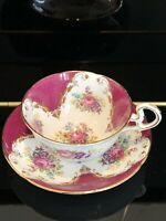 Royal Grafton Tea cup and Saucer, vintage antique, bone china, made in England