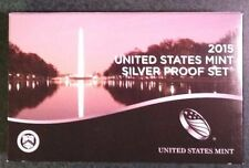 2015 US Mint Silver Proof Set ,2nd lowest mintage of series in over 50 years