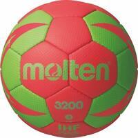 Molten Handball Trainingsball Synthetik Leder Ball IHF Rot / Grün