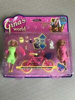 Vintage Gina's World - Cycling Gina Mini Doll Set By Vivid in 1997 Sealed