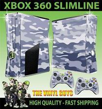 Xbox 360 Slim Urban Camouflage Camo Armée Autocollant peau & 2 pad skins