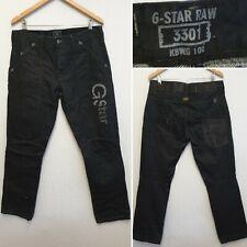 G-STAR ORIGINALS RAW DENIM 3301 KBWG 100 JEANS SIZE W34 L32 TROUSERS BOTTOMS