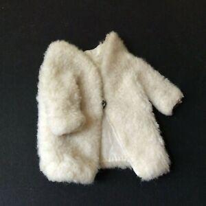 Sindy doll 1968 White Winter 12S29 HTF Fur Coat vintage dolls clothes
