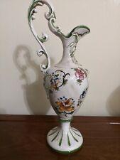 Brocca in Porcellana CAPODIMONTE Vintage anni 70 Floreale H 41 cm