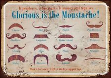 Moustache metal wall sign