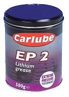 * Pack of 2 * EP2 Lithium Extreme Pressure Grease 500g Tin [XGE500] High Melting