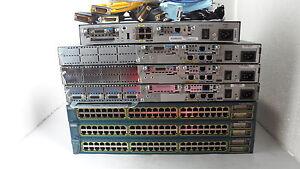 Cisco CCNA CCNP CCSP CCIE Home Lab Kit 2811,1841, 2600XM,WS-2960, 3750