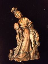 Antique/Vintage Carved And Signed Soapstone Kuan Yin/Guan Yin!