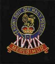 Lancashire embroidery 15/19 kings hussars B Badge
