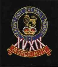 Lancashire embroidery 15/19 kings hussars B Badge