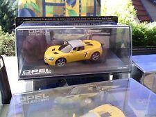 Opel Speedster gelb mit geschl. Verdeck   -1/43- Modell - NEU!  Opel Collection
