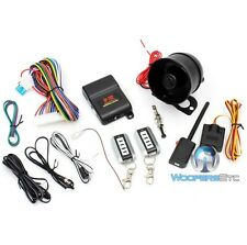 CRIMESTOPPER SP-202 DELUXE 2 5 BUTTON REMOTE SECURITY ALARM SYSTEM KEYLESS ENTRY