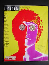 ORIGINAL 1968 LOOK Magazine PSYCHEDELIC JOHN LENNON & (BEATLES INSIDE) By AVEDON