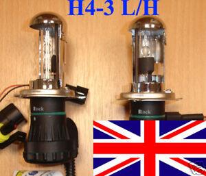 H4 8000K H4-3 BI XENON HI LOW BEAM HID BULB BULBS replacement U.K. SELLER