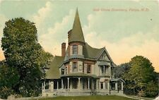 Fargo North Dakota Oak Grove Seminary~Turret w/Conical Top~Fenced Porch~Portico