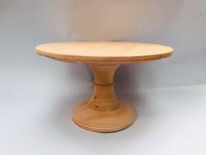10 in wooden cake stand, birthday cake pedestal, rustic handmade food display