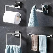 Chrome Stainless Steel 4PCS Bathroom Accessory Set Towel Bar Towel Ring Holder