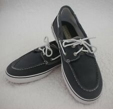 SPERRY Top-Sider Halyard Distressed Navy Canvas Size 5.5M Perfect Condition