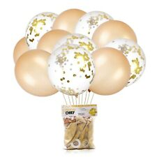Gold & Gold Confetti Balloons | 24 - Pack | 18 Inch Premium Latex Balloons