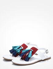 NIB A|X Armani Exchange Ankle Strap tassel Sandals Multi color US 9.5 10, EU 41