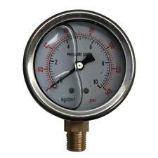 """Liquid Oil filled Pressure Gauge 63mm 140PSI 10Bar G1/4"""" Dia2.5"""" Meter 94049008"""