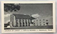 Vintage Postcard 1961 Church of Christ Amarillo Texas TX PC