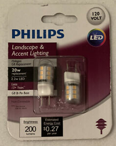 Philips 20W Replacement G8 Bi-Pin Base LED  Light Bulb 2-Pack Landscape Accent