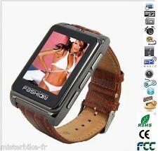 Montre Téléphone Ecran Tactile Camera Quadri-Bande Bluetooth MP3 FM S9120 Marron