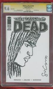 Walking Dead 109 CGC 9.6 SS Sina Grace Original art Michonne sketch no 8 Kirkman