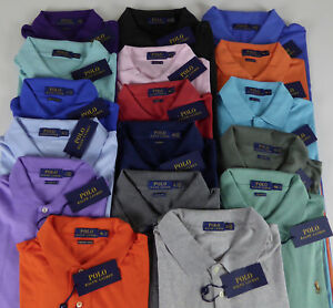 Polo Ralph Lauren SS Soft Touch 100% Cotton Polo Shirt w/ Multi Pony NWT $85-$98