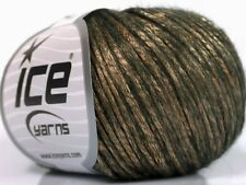 Rock Star #52021 Bronze Metallic Sheen Dk Brown Soft Nylon Merino Wool Yarn 50gr