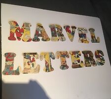 Personalised Wooden Marvel Comic Letters Name Bedroom Door Girl Boy Toy Box Hero