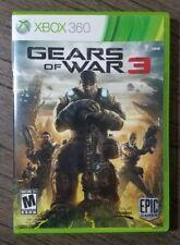 Gears of War 3 (Microsoft Xbox 360, 2011) Complete w/ Stickers