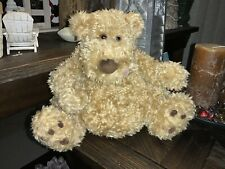 "BABY BOY Gund Lickety Plush TEDDY HONEY BEAR Tan 10"" Stuffed Animal Toy"