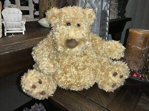 """BABY BOY Gund Lickety Plush TEDDY HONEY BEAR Tan 10"""" Stuffed Animal Toy"""