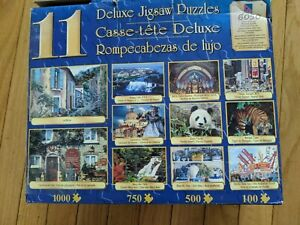 11 Deluxe Jigsaw Puzzles Combo Pack 6050 Pieces Wildlife Landscapes Buildings