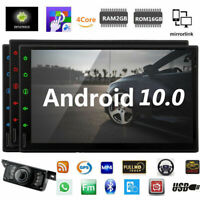 """Android 10.0 Car Stereo GPS Navigation Radio NO DVD Player Double Din WIFI 7"""""""