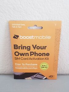 Boost Mobile Bring Your Own Phone 4-in-1 SIM Card Activation Kit 4G LTE Free S&H