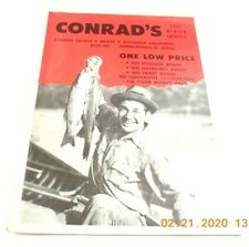 Conrads 1961 Winter Catalog Outdoor Equipment Fishing Tackle Boats Vintage