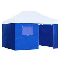 10x15Feet Enclosure Side Walls Kit Zipper Wall For EZ Pop Up Canopy Gazebo Tent
