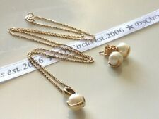 9ct  Gold South Sea Pearl Necklace & Matching Earrings