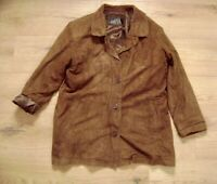 @ TIAMO @ Jacke Frauen Lederjacke Wildleder braun Size M Gr. 38 Vintage