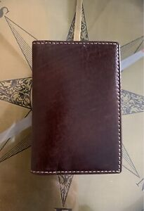 NWT Bosca Men's Vermont Leather Calling Card Case Wallet Chestnut RP $45