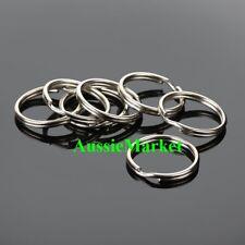 20 x keyrings split key ring stainless steel car boat house chain metal 20mm new