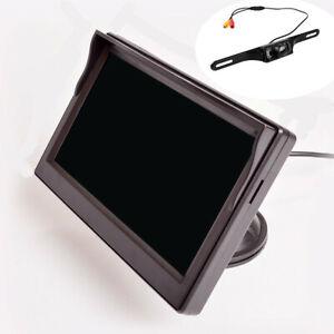 """5"""" Monitor Reversing Camer Rear View Kit Night Vision 12V 24V Fit For Car Truck"""